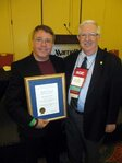 The Henry Maso keynote award was presented to John Warner, PhD (left), by David Steinberg.