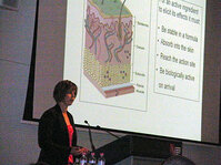 Anita Schneider, Monash University, presented on the penetration of topical antiaging compounds.