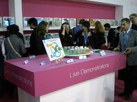 The Innovation Zone at In-Cosmetics featured live demonstrations by raw material suppliers.