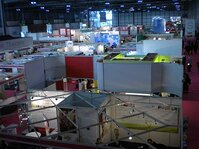 An aerial view of the booths at In-Cosmetics 2011 in Milan