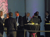 Nominees for the In-Cosmetics Lifetime Achievement Award and <em>C&T</em> magazine&rsquo;s International Technology Awards mingle during the award reception&rsquo;s cocktail hour.