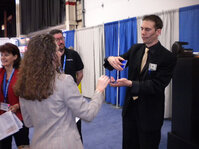 "Cognis had a magician at its booth as part of its ""It's Magic"" formulation concepts."