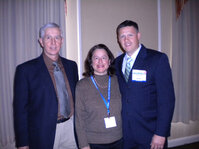 From left: Bill Woods, NYSCC chapter chair; Laura Spaulding, NYSCC education co-chair; and Tom Haris, sales manager for <em>C&T</em> magazine.