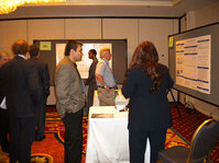 Students from the University of Cincinnati present their research to attendees at the Annual Scientific Seminar.