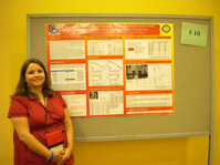 Best Poster Award winner Michelle McCluskey from the University of Southern Mississippi