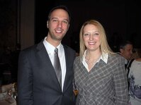 Rachel Grabenhofer and Peter Tsolis (Estée Lauder) take time from the 2010 SCC Annual Scientific Meeting & Technology Showcase to pose for a photo.