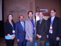Speakers at the MWSCC's half-day education program (from left): Peggy Ward; Ali Syed, PhD; Russel Walters, PhD; Tim Kapsner; and Michael Wright