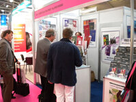 Allured Business Media's booth at in-cosmetics 2009