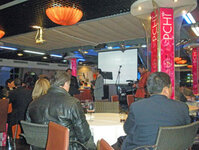 The PCHi 2010 Industry Night welcomed exhibitors and attendees alike aboard a boat to cruise the Huangpu River through downtown Shanghai. Organizers welcomed attendees aboard for food, networking and