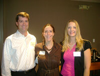L to r: Perry Romanowski, Suellen Bennett and Rachel Chapman.