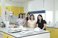 The personal care laboratory team at IMCD Malaysia (from left): Ong Yien Shee, account manager; Liew Chiew Ngan, asst. technical manager; Ng Yew Ming, business manager; and Grace Chan, business manager.
