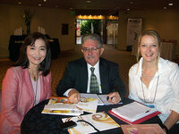 Panvipa Krisdaphong, PhD, Art Georgalas and Rachel Grabenhofer meet to discuss plans under way for the IFSCC Conference in 2011, in Bangkok.