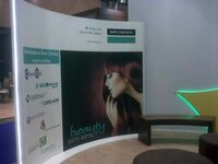 Dow Corning booth during the FCE exhibition in Sao Paulo (Editor's note: Photo taken before the opening of the show)