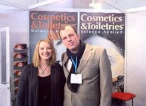 Rachel Grabenhofer (<em>Cosmetics& Toiletries</em>) and Ruandro Knapik (Grupo Boticario)