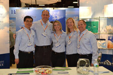 Hallstar's team (from left): Robert Hu, Justin Bill, Barbara Mazzolari, Karin Wennerstrom and Rich Trojan.