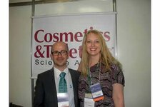 Denis Bendejacq, of Rhodia, and Rachel Grabenhofer, editor of C&T