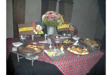 "The social mixer, ""Latin Night,"" focused on a country theme, complete with a country-style spread of food choices."