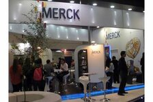 Merck stand at the FCE exhibition in Sao Paulo