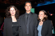 From left:  Nancy Allured, <em>GCI</em> magazine; Jean-Philippe Cosson, Silab; and Catherine Lenaers, Silab.
