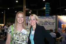 Rachel Chapman and Paige Crist, Cosmetics & Toiletries magazine at NYSCC Suppliers' Day, May 2008