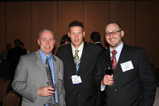Kevin Berrigan of Briechle-Fernanadez Marketing Services, Tom Harris and Jeff Falk of GCI magazine