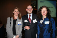 Jeff Falk (center), GCI magazine, and Nancy Allured of Allured Publishing at NYSCC Suppliers' Day