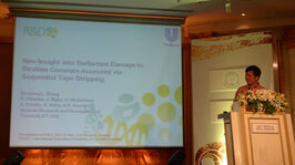Shuliang Zhang, PhD, of Unilever discussed a tape stripping method to quantitatively assess the damaging effects of surfactants in cleansers.