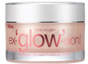 Read the Label Online: Bliss Triple Oxygen Ex-glow-sion!  Vitabead-Infused Moisture Cream