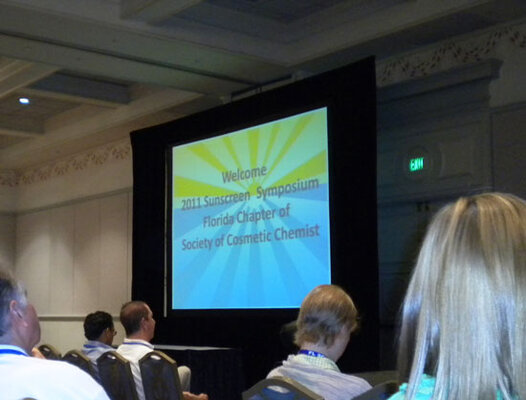 "The FLSCC's 2011 Sunscreen Symposium featured the theme ""The UVB/UVA Balancing Act: Choices and Change."""