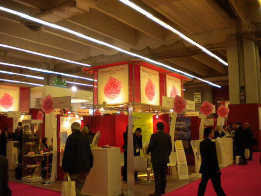 The Cosmetic Valley booth at In-Cosmetics in Paris