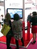 Laboratoires Sérobiologiques' booth at In-Cosmetics featured a 3D television for attendees to watch a multidimensional video of their products in action on skin and hair.