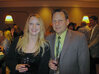 Rachel Grabenhofer of <em>C&T</em> magazine and Darrel Zehner of Rhodia chat at the MWSCC's Social Night.