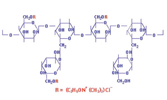 Figure 1. Cationic guar gum structure