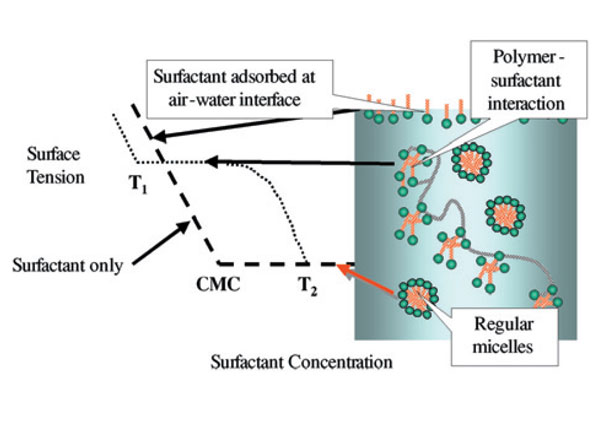 Figure 3. Polymer-surfactant interaction