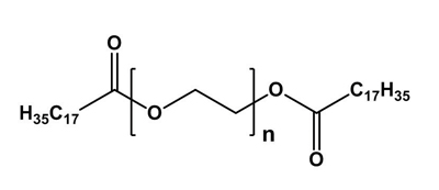 Figure 1. Chemical structure of PEG-150 distearate; n = 150