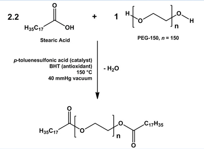 Figure 2. Synthesis of PEG-150 distearate