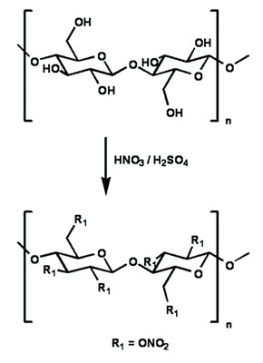 Figure 3. The nitrocellulose reaction
