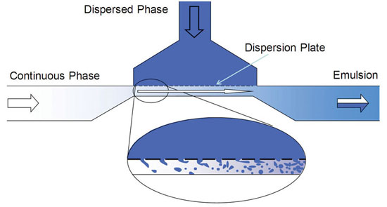 Figure 1. Schematic of a microchannel emulsifier