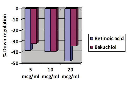Figure 2. Down regulation of 5-a-reductase expression
