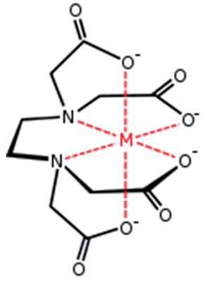 Figure 1. Structure of metal-EDTA chelate