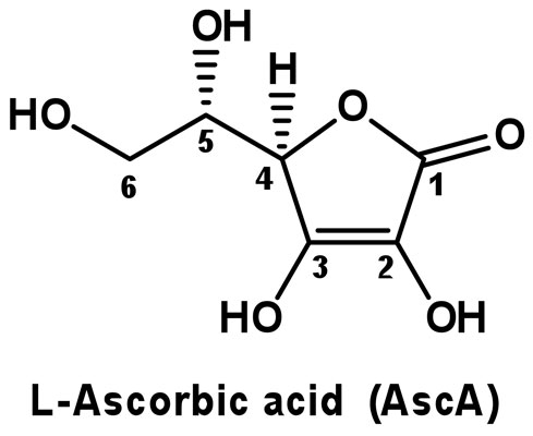 Figure 1. Chemical structure of L-Ascorbic acid (AscA)