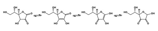 Figure 2. Keto-enol tautomerization in L-Ascorbic acid