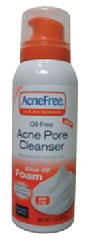 Figure 3. AcneFree Oil-Free Acne Pore Cleanser from University Medical Pharmaceuticals Corp.