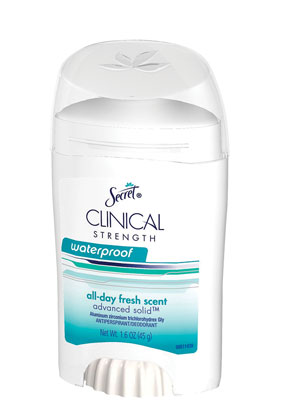 Figure 6. Secret Clinical Strength Waterproof Antiperspirant Deodorant