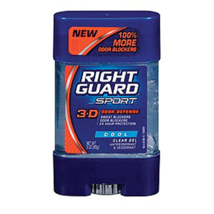 Figure 8. Right Guard Sport 3-D Odor Defense Cool Clear Gel Antiperspirant & Deodorant