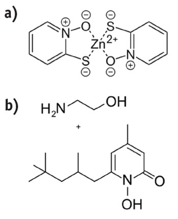 Figure 2. Chemical structures of the classical anti-dandruff actives