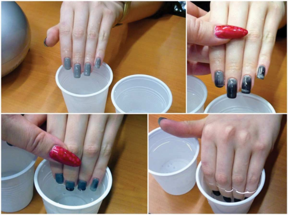 Figure 6. Gel nails can hide or reveal their underlying color