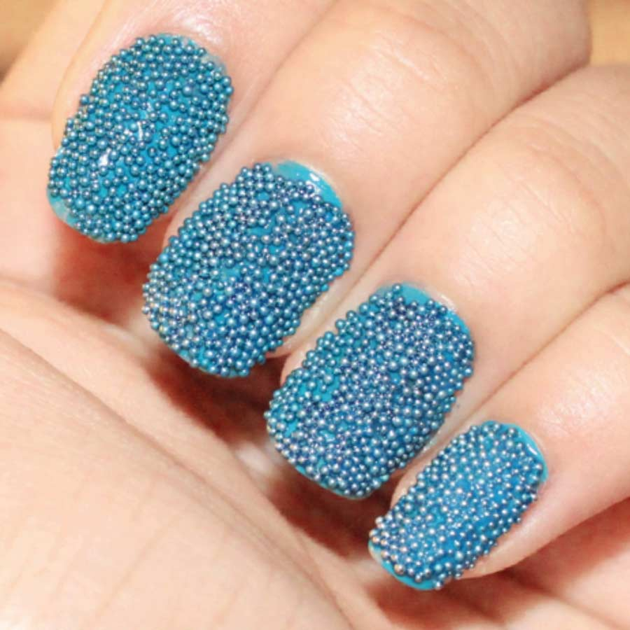 Figure 7. Caviar nail finish