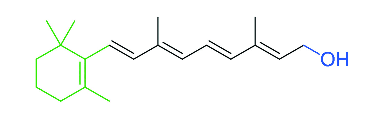 Figure 1. Chemical structure of vitamin A (retinol)