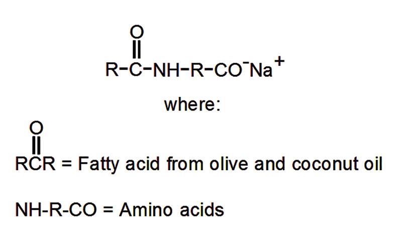 Figure 2. Chemical structure of sodium olivoyl/cocoyl tetra amino acid